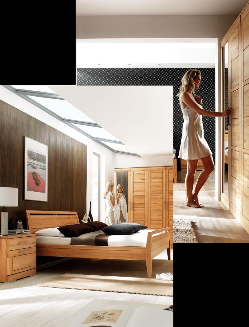 Schlafen: Schlafzimmereinrichtung mit Tischlerei Emsenhuber